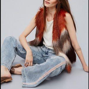 NWOT Free People Faux Fur Vest